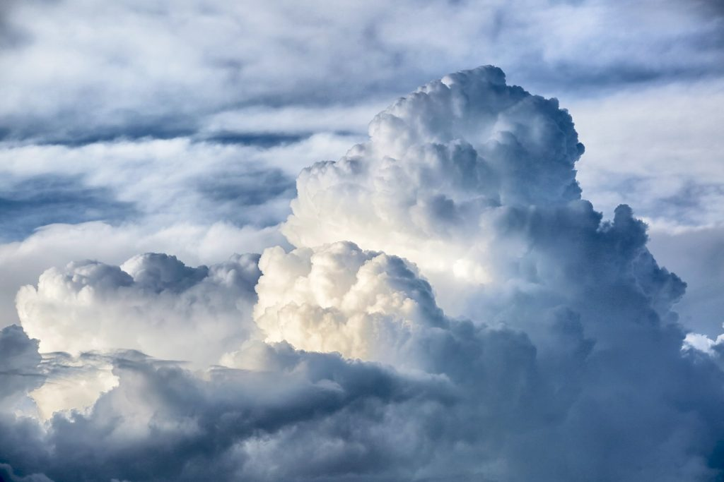 cloud view from the sky
