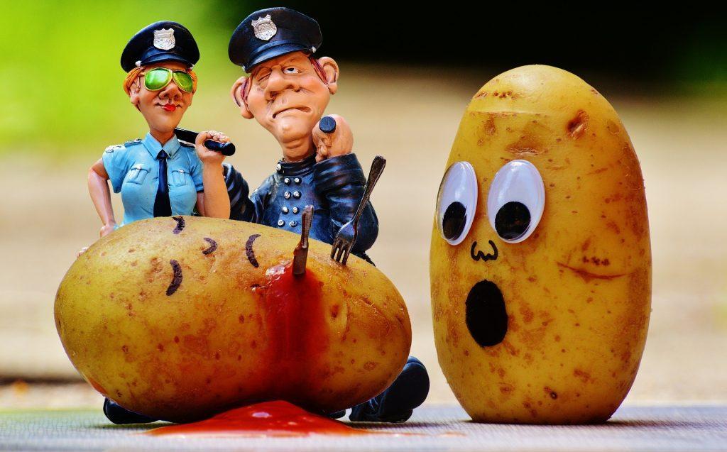 police pomme de terre